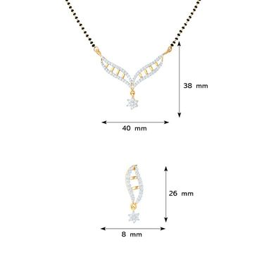 Mahi CZ Gold Plated Mangalsutra Set_Nl1101550g