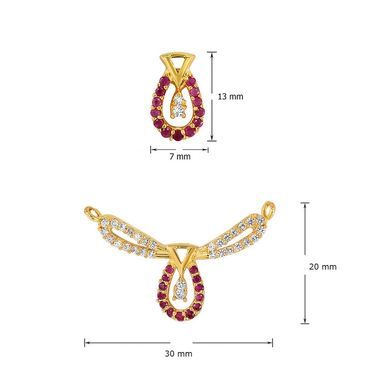 Mahi CZ & Ruby Gold Plated Mangalsutra Set_Nl1103516g2
