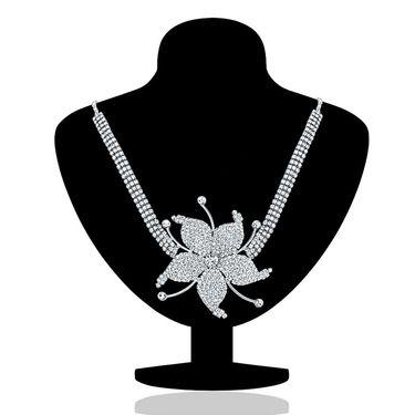 Oviya Rhodium Plated Allegory of Love Nacklace Set_NL2103177R