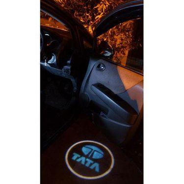 Set of 2 pcs Branded Car Door Welcome Light LED Projection Ghost Shadow Light Laser Tata Logo