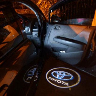 Set of 2 pcs Branded Car Door Welcome Light LED Projection Ghost Shadow Light Laser Toyota Logo