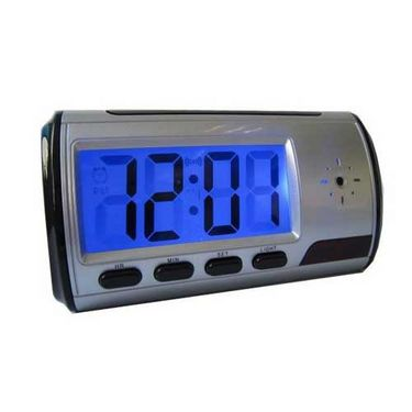 NPC Table Clock Security Camera WNPC (8-12 Hrs Video Recording:Remote On/Off Security Clock Camera:Motion Detect Recording)
