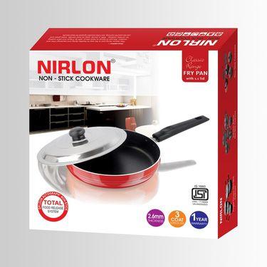 Nirlon Non-Stick Frypan With Lid-24 Cms_NR48016