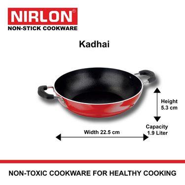 Nirlon Non Stick Classic Range Kadai 1.9 Ltr_NR48020