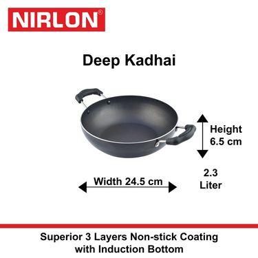 Nirlon Non-Stick Induction Deep Kadhai 2.2 Ltr_NR48442