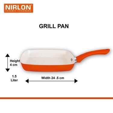 Nirlon  4 Layer Ceramic Grill Pan 24.5 cm_NR48819