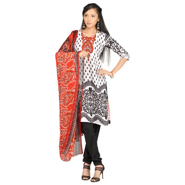 Naira Set of 7 Mughal Inspired Printed Dress Material by Pakhi (7PDM7)