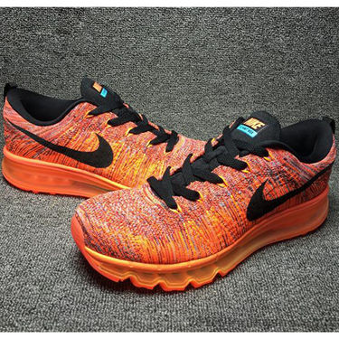 Nike Mesh Flyknit Max Orange Sports Shoes -os01