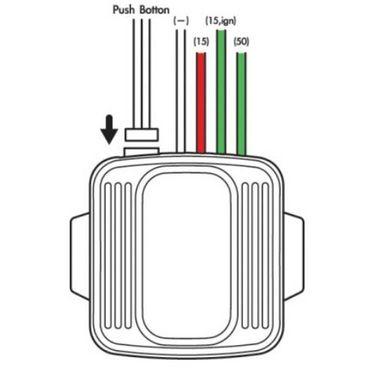 Niken Push Start Ignition Button - Red