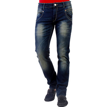 Branded Slim Fit Stretchable Cotton Jeans_Nto7 - Green Blue