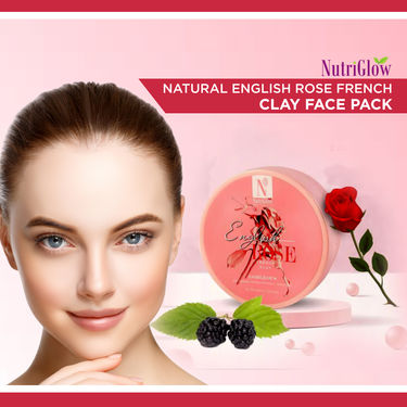 NutriGlow Natural English Rose French Clay Face Pack