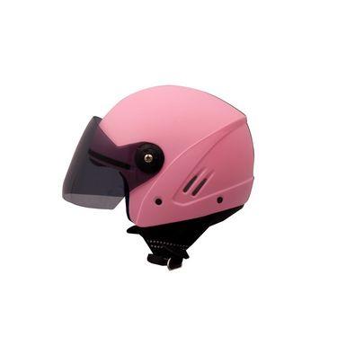 Autofurnish (O2-708) Track Super Open Face Helmet O2 (Pink) - Smoke Black Glass-O2-708