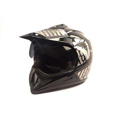 Autofurnish (ORD-901) Sports Rider Monster Off-Road Helmet (Black) - Smoke Black Glass-ORD-901