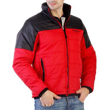 Branded Slim Fit Cotton Jacket_Os24 - Red