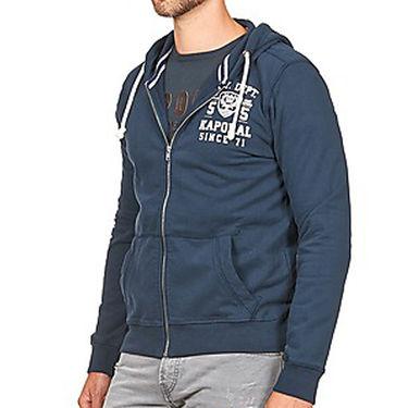 Branded Regular Fit Cotton Hoods_Os27 - Navy Blue