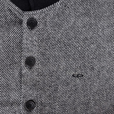 Branded Slim Fit Cotton Waist Coat_Os31 - Black Line