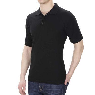 Oh Fish Plain Polo Neck Tshirt_P1blk - Black
