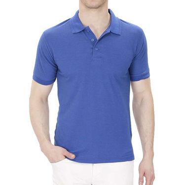 Oh Fish Plain Polo Neck Tshirt_P1blu - Blue