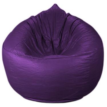 PSYGN Leatherette Sofa Bean Bag -  PBB202-PURPLE-XXXL