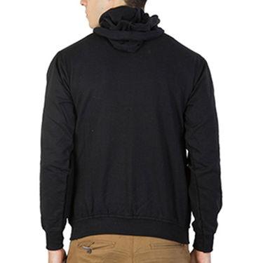 Printland Full Sleeves Cotton Hoodies_Pb1092 - Black