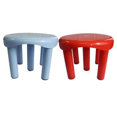 Chetan 2Pc Bathroom Plastic Stool 5 Legs