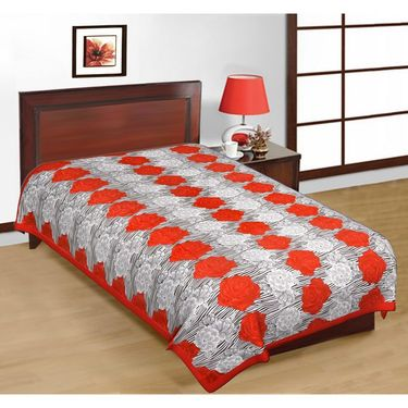 Priya Fashions Cotton 4 Double 4 Single Bedsheets With 8 Pillow Covers-PF101D4S4WPB