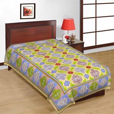6 Cotton Single Bedsheets with Jaipuri Sanganeri Print-PF101