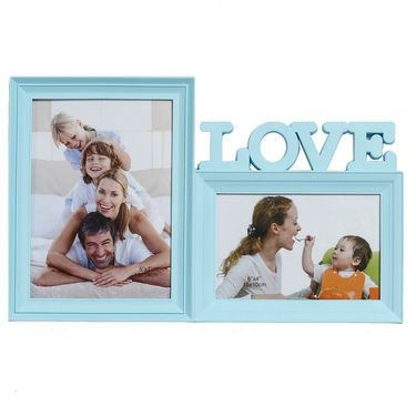 Sky Blue 2 Pictures Collage Photo Frame