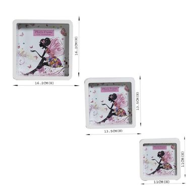White 3 Seaparte Collage Photo Frames