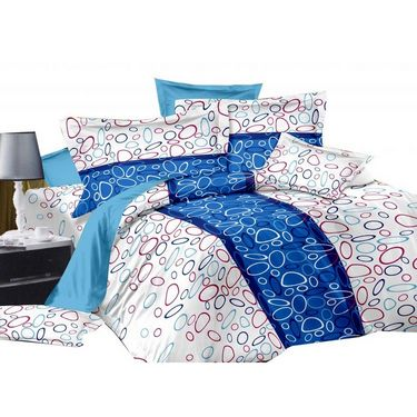 Set of 2 PARAS FASHIONS Cotton Printed Double Bed sheets With 4 Pillow covers-PFJDBCOM2024