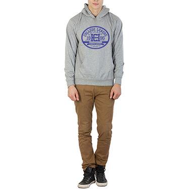 Printland Full Sleeves Cotton Hoodies_Pg1126 - Grey
