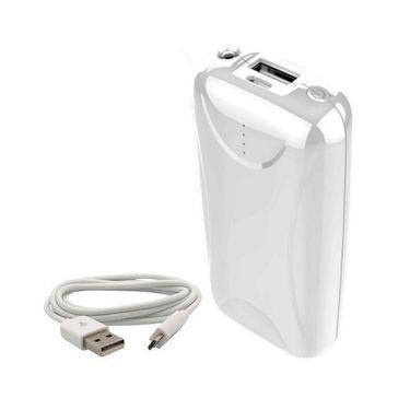VOX 8000mAh USB Powerbank Portable Charger for Mobile PK-31 - White