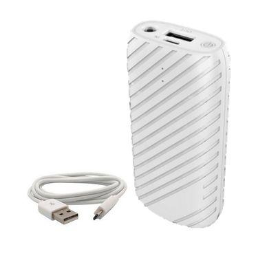 VOX 8000mAh USB Powerbank Portable Charger for Mobile PK-32 - White