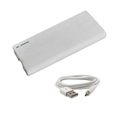 VOX 24000mAh Dual USB Powerbank Portable Charger for Mobile Tablet PK-81 - White