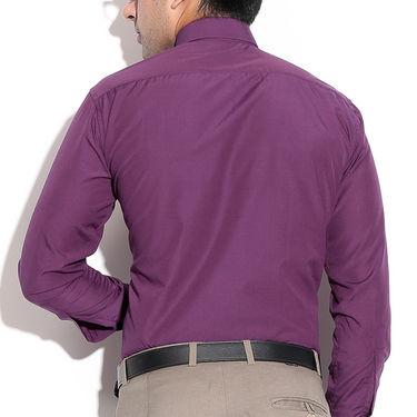 Fizzaro Plain Cotton Shirt _Plsrtc103 - Dark Purple