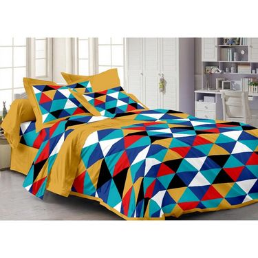 Story @ Home Set of 4 Double Bed sheet With 8 Pillow Cover -PL_1101_05_07_18