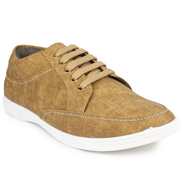 Pede Milan Canvas Tan Casual Shoes -pde68