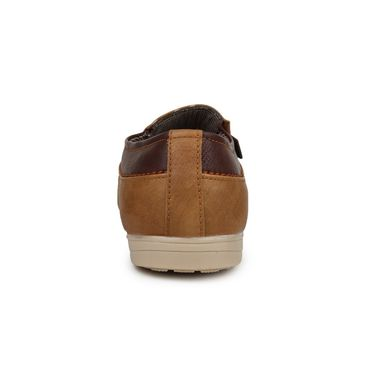 Pede Milan Synthetic Leather Tan Casual Shoes -pde55