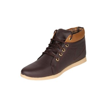 Pede Milan Faux Leather Casual Shoes PM-ASD-1552-Brown