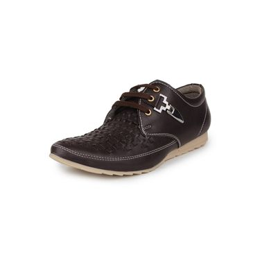 Pede Milan Synthetic Leather Brown Casual Shoes -pde44