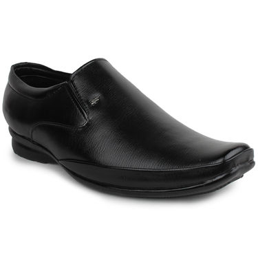 Pede Milan Synthetic Leather Black Formal Shoes -pde62