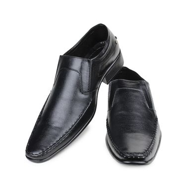 Pede Milan Synthetic Leather Black Formal Shoes -pde22