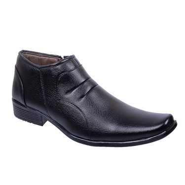 Porcupine Faux Leather Formal Shoes PN-FS-BK - Black