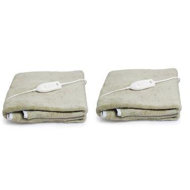 Set of 2 Expressions Mink Electric Single Blankets-POLAR106SB