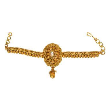 Pourni Stylish Brass Bajuband_Prbb03 - Golden
