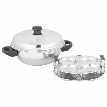 Premium Multi Kadai 8 Idli Pot - Stainless Steel