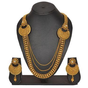 Pourni Stylish Necklace Set_Prnk160 - Golden