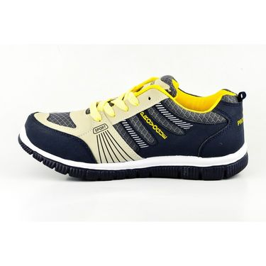 Provogue Mesh Sports Shoes PV1051-Navy & Yellow