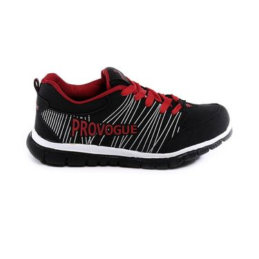 Provogue Black & Red Sports Shoes -Pv1063