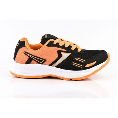 Provogue Mesh Sport Shoes Pv1094-Black & Orange-40